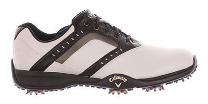 New Mens Golf Shoe Callaway Chev Force Medium 9.5 White/Black MSRP $100 M169