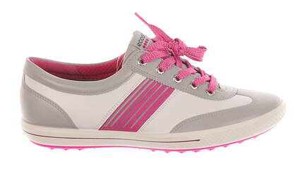 New Womens Golf Shoe Ecco Golf Street 40 (9 - 9.5) White/Pink MSRP $160 12104357359