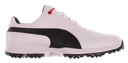 New Mens Golf Shoes Puma Ace Medium 12 White/Black/High Risk Red 188658-01 MSRP $120