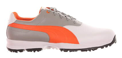 New Mens Golf Shoe Puma Ace Wide 11 White/Orange MSRP $100