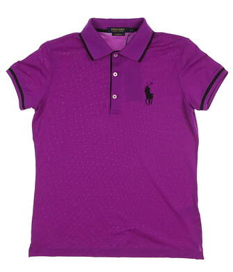 New Womens Ralph Lauren Golf Polo Medium M Purple MSRP $95