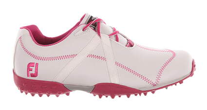 New Womens Golf Shoe Footjoy M Project Medium 5.5 White/Pink MSRP $120