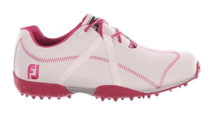 New Womens Golf Shoe Footjoy M Project Medium 9 White/Pink MSRP $120 95615