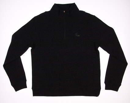 New W/ Logo Mens Dunning Golf 1/4 Zip Sweater Medium M Gray MSRP $100