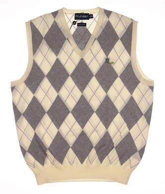 New W/ Logo Mens Ralph Lauren Golf Sweater Vest Medium M Multi MSRP $89