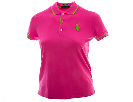 New Womens Ralph Lauren Golf Polo Large L Pink MSRP $95