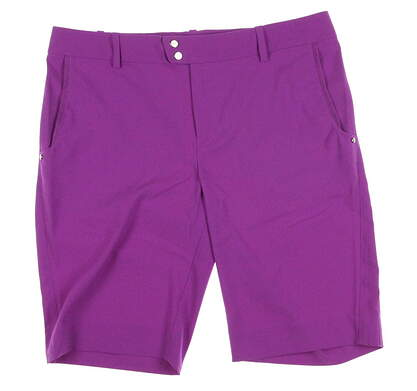 New Womens Ralph Lauren RLX Golf Shorts Size 10 Purple MSRP $125