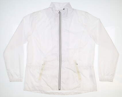 New Womens Ralph Lauren Wind Jacket X-Large XL White MSRP $165 281594918001