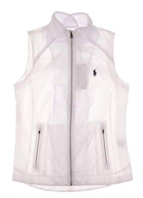 New Womens Ralph Lauren Golf Wind Vest X-Small XS White MSRP $125 281612821002