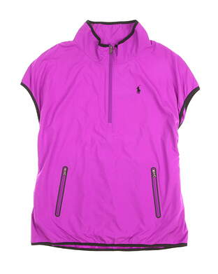 New Womens Ralph Lauren Golf Wind Vest Medium M Purple MSRP $198