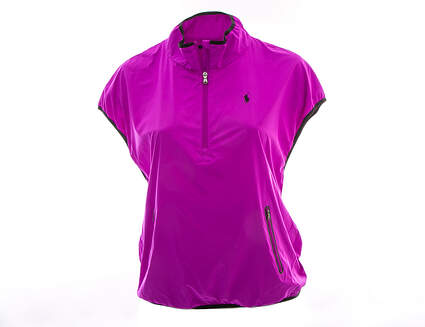 New Womens Ralph Lauren Golf Wind Vest Large L Purple MSRP $198