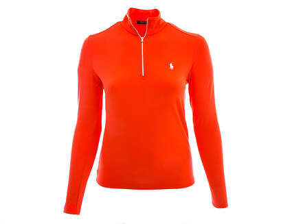 New Womens Ralph Lauren Golf 1/4 Zip Pullover Large L Orange (Mango) MSRP $125 281590385004