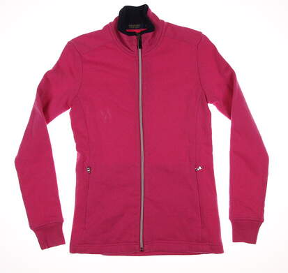 New Womens Ralph Lauren Golf Full Zip Sweatshirt X-Small XS Pink MSRP $125 281594914003