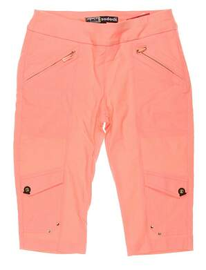 New Womens Jamie Sadock Golf Skinnylicious Knee Capris Size 2 Orange MSRP $110