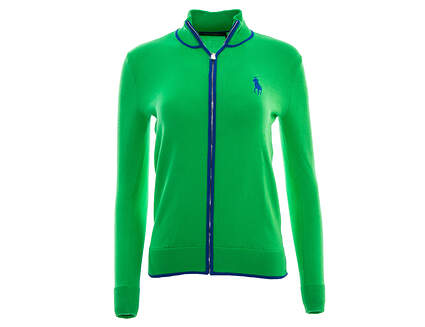 New Womens Ralph Lauren Golf Full Zip Cardigan X-Small XS Green MSRP $145