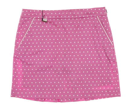 New Womens Ralph Lauren Polo Golf Polka Dot Skort Size 2 Pink / White MSRP $145 281589013001