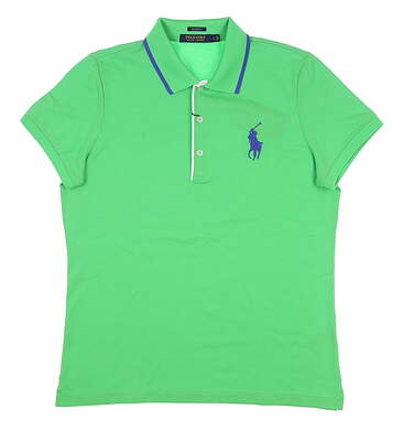 New Womens Ralph Lauren Tailored Golf-Fit Polo Large L Green MSRP $98