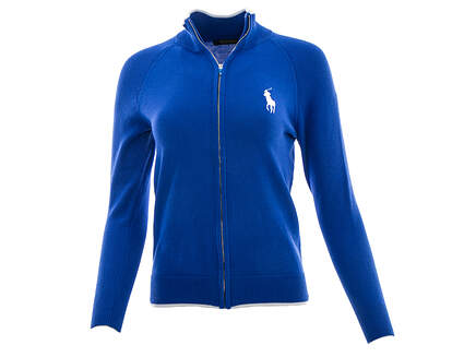 New Womens Ralph Lauren Golf Full Zip Cardigan X-Small XS Blue MSRP $165