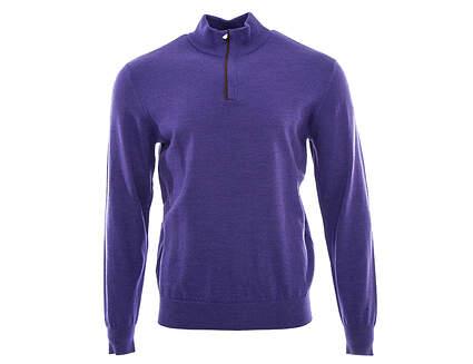 New Mens Ralph Lauren Golf Merino Wool 1/4 Zip Sweater Medium M Purple MSRP $185