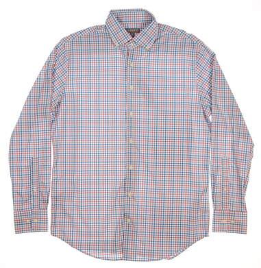 New Mens Peter Millar Walton Multi Tattersall Performance Sport Shirt Button Up Medium M Multi (White / Blue / Pink) MSRP $135 MS16EW11