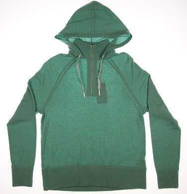 New Womens Ralph Lauren Polo Golf Hooded 1/4 Zip Sweater Large L Green MSRP $425 281589057002