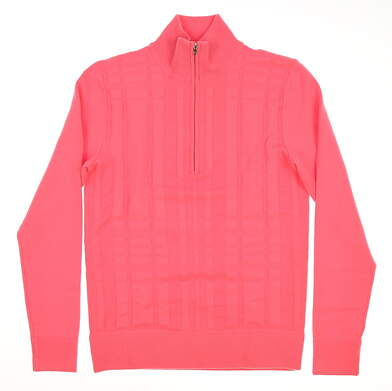 New Womens Ralph Lauren Polo Golf 1/2 Zip Sweater Small S Pink MSRP $245 281556504001