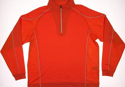 New Mens Footjoy Golf Mixed Texture Sport 1/2 Zip Pullover X-Large XL Orange MSRP $95 92594