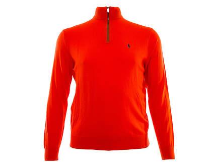 New Mens Ralph Lauren Golf 1/4 Zip Sweater X-Large XL Orange MSRP $185