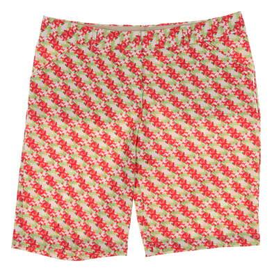 New Womens Peter Millar Waterflowers Performance Knee Shorts Size 6 Multi MSRP $100 LS16EB01E