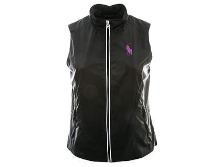 New Womens Ralph Lauren Golf Wind Vest X-Large XL Black MSRP $125