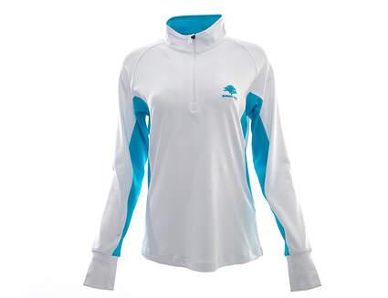 New W/ Logo Womens Footjoy Sport Mid Layer 1/2 Zip Pullover Medium M White MSRP $80 27131