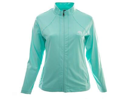 New W/ Logo Womens Footjoy Full Zip Mock Neck X-Large XL Green MSRP $115 22327