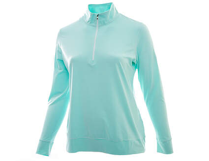 New W/ Logo Womens Footjoy Golf Lightweight Performance Mid Layer1/2 Zip Pullover X-Large XL Green / White MSRP $95 23451