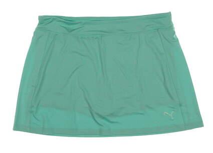New Womens Puma Golf Solid Knit Skort Size Large L Mint Leaf MSRP $65