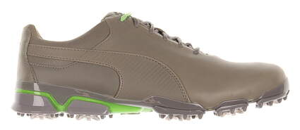New Mens Golf Shoe Puma TitanTour Ingite Premium 9.5 Gray (Drizzle / Green Gecko) MSRP $190 188654 01