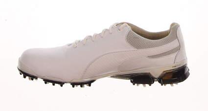 New Mens Golf Shoe Puma TitanTour Ingite Premium 8.5 White / Glacier Gray / Black MSRP $190 188249 01