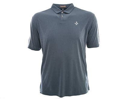 New W/ Logo Mens Peter Millar Featherweight Solid Golf Polo Large L Gray MSRP $75 MS16EK43