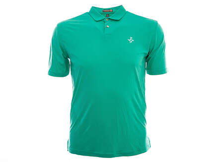 New W/ Logo Mens Peter Millar Featehrweight Golf Polo Medium M Green MSRP $75 MS16EK43