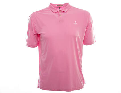 New W/ Logo Mens Peter Millar Featehrweight Golf Polo Large L Pink MSRP $75 MS16EK43