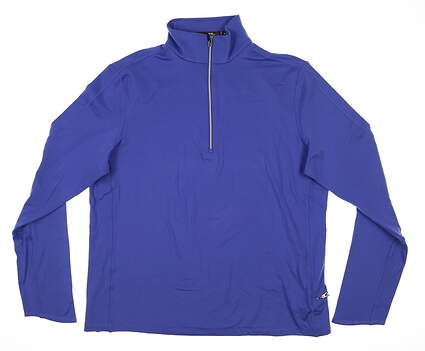 New Womens Ralph Lauren RLX Golf 1/4 Zip Pullover X-Large XL Purple MSRP $125