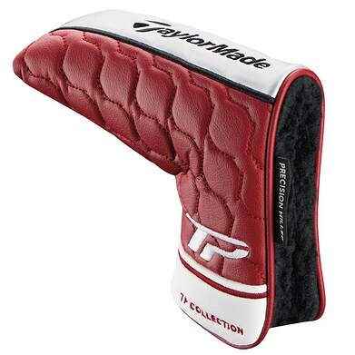 TaylorMade TP Collection Soto Blade Putter Headcover White Burgundy Head Cover Golf
