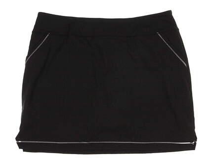 New Womens Adidas Golf Venting Skort Size Large L Black MSRP $75 AE4367