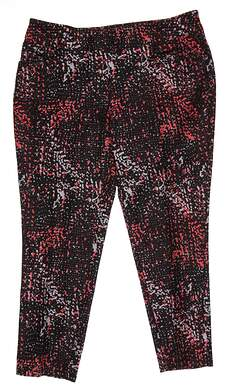 New Womens Adidas Golf Adistar Printed Pull-On Cropped Pants Size X-Small XS Multi MSRP $85 AE4321