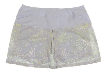 New Womens Adidas Golf Tour Printed Pull On Skort Size Medium M Blue MSRP $75 AE4337