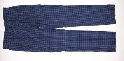 New Mens Adidas Golf Fashion Performance Check Pants 32x30 Blue MSRP $90 W47625
