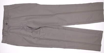 New Mens Adidas Golf Flat Front Tech Pants 38x34 Khaki MSRP $65 X24881