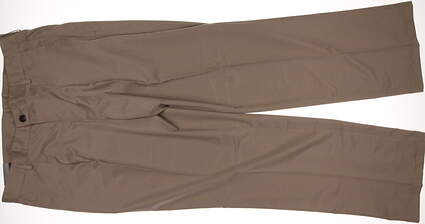New Mens Adidas Golf Pleated Tech Pants 34x32 Khaki MSRP $65 X24897