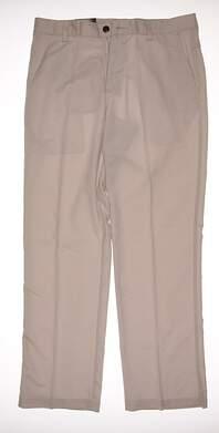 New Mens Adidas Golf Climalite Flap Pocket Pants 32x32 Ecru MSRP $70 X17290
