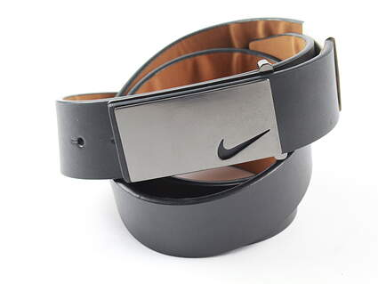 New Mens Nike Golf Tour Sleek Modern Plaque Belt 40 Leather MSRP $50 1118701