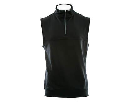 New Mens Dunning Golf Stretch Thermal 1/4 Zip Vest Large L Black MSRP $79 D7S13V647
